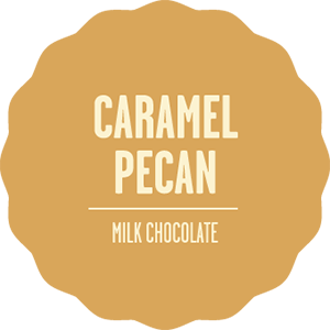 Milk chocolate caramel pecan 2x 2