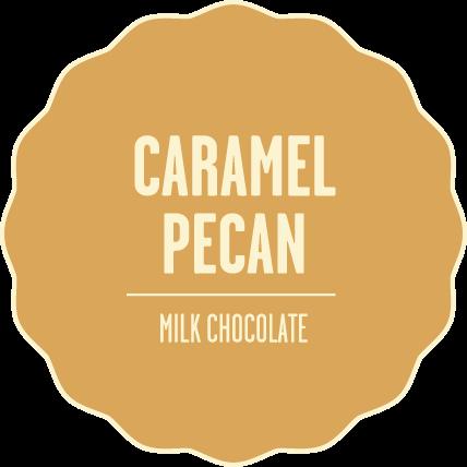 Milk chocolate caramel pecan 2x