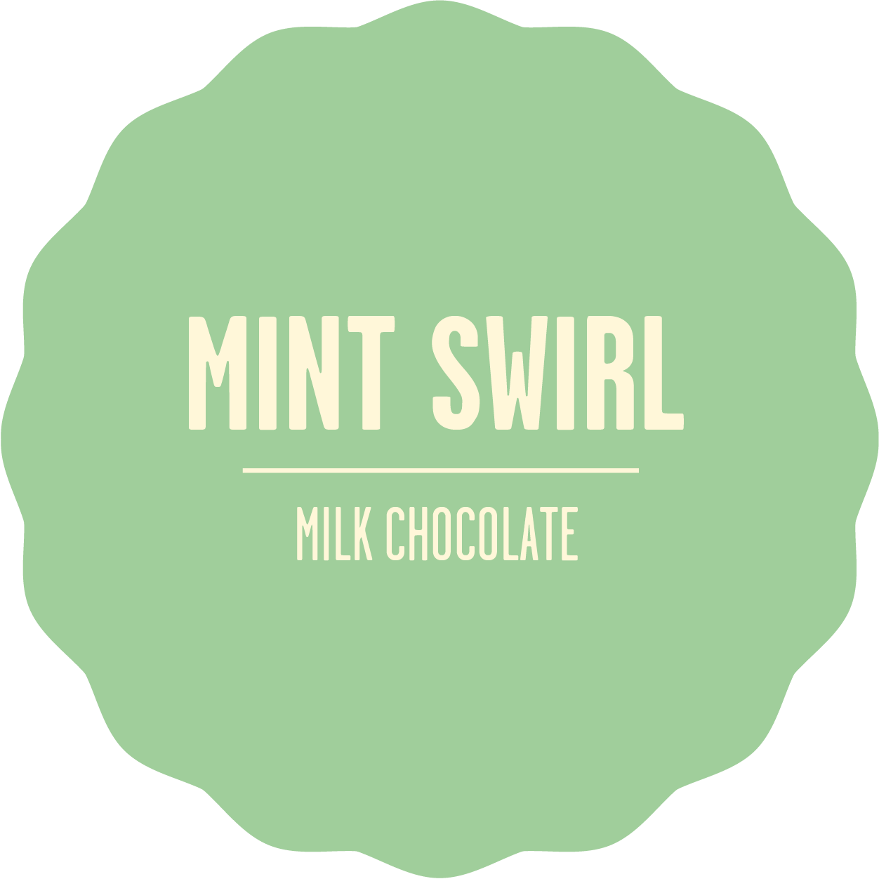Milk chocolate mint 2x sans contour