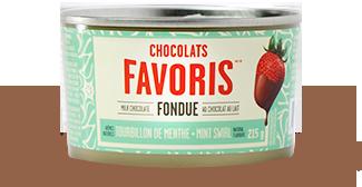 Fondue chocolat menthe produit