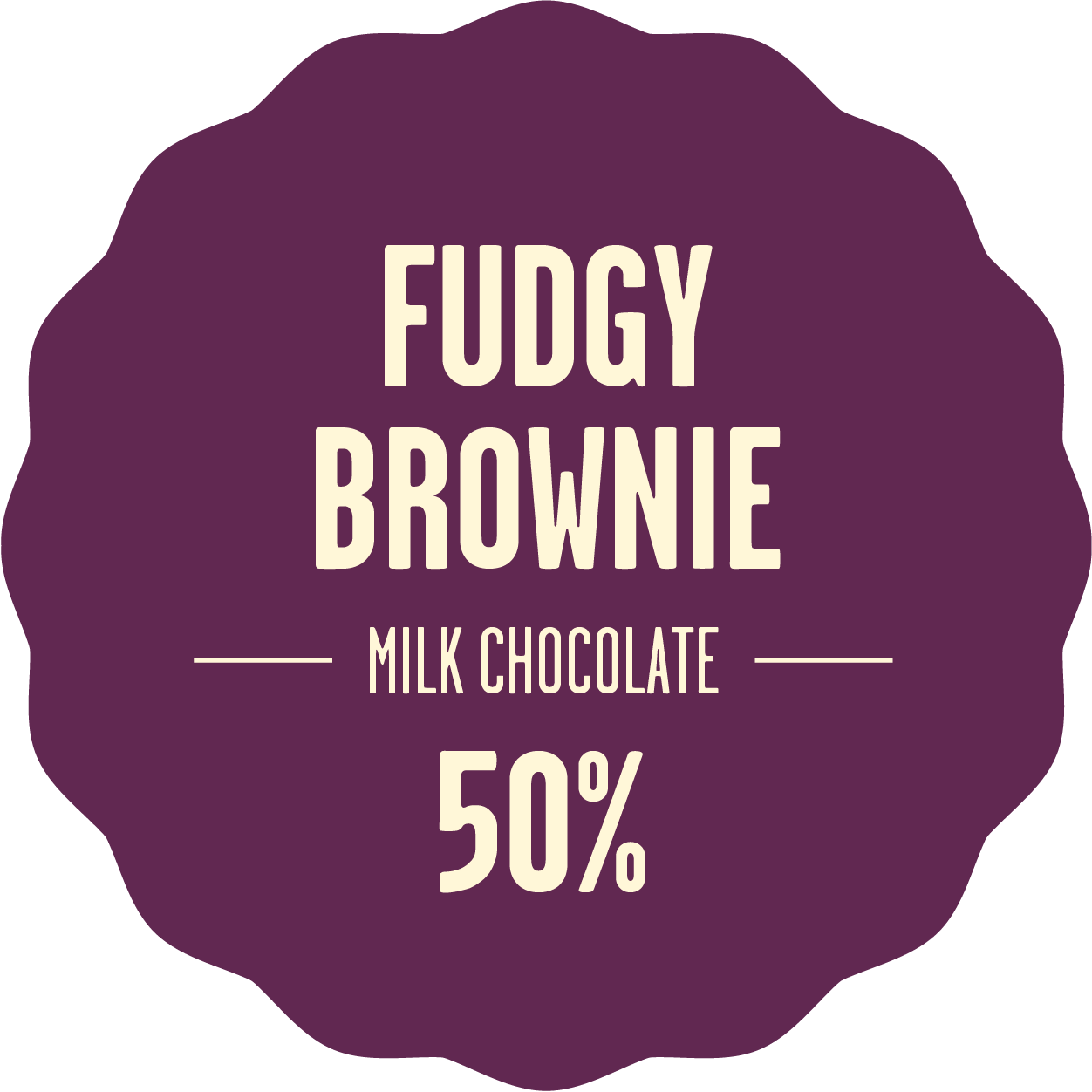 Milk chocolate fudgy brownie 300px