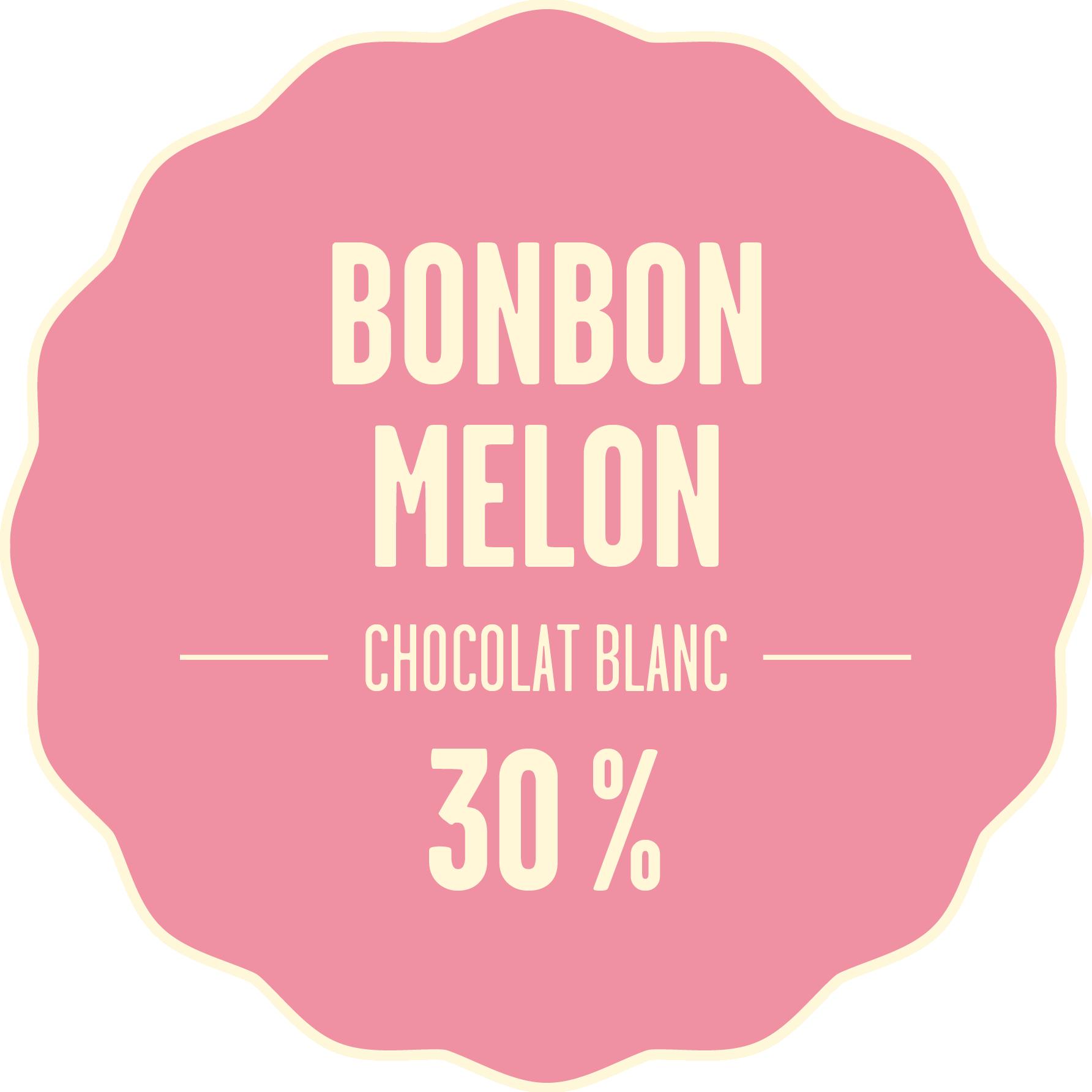 Chocolat blanc bonbon melon 428px