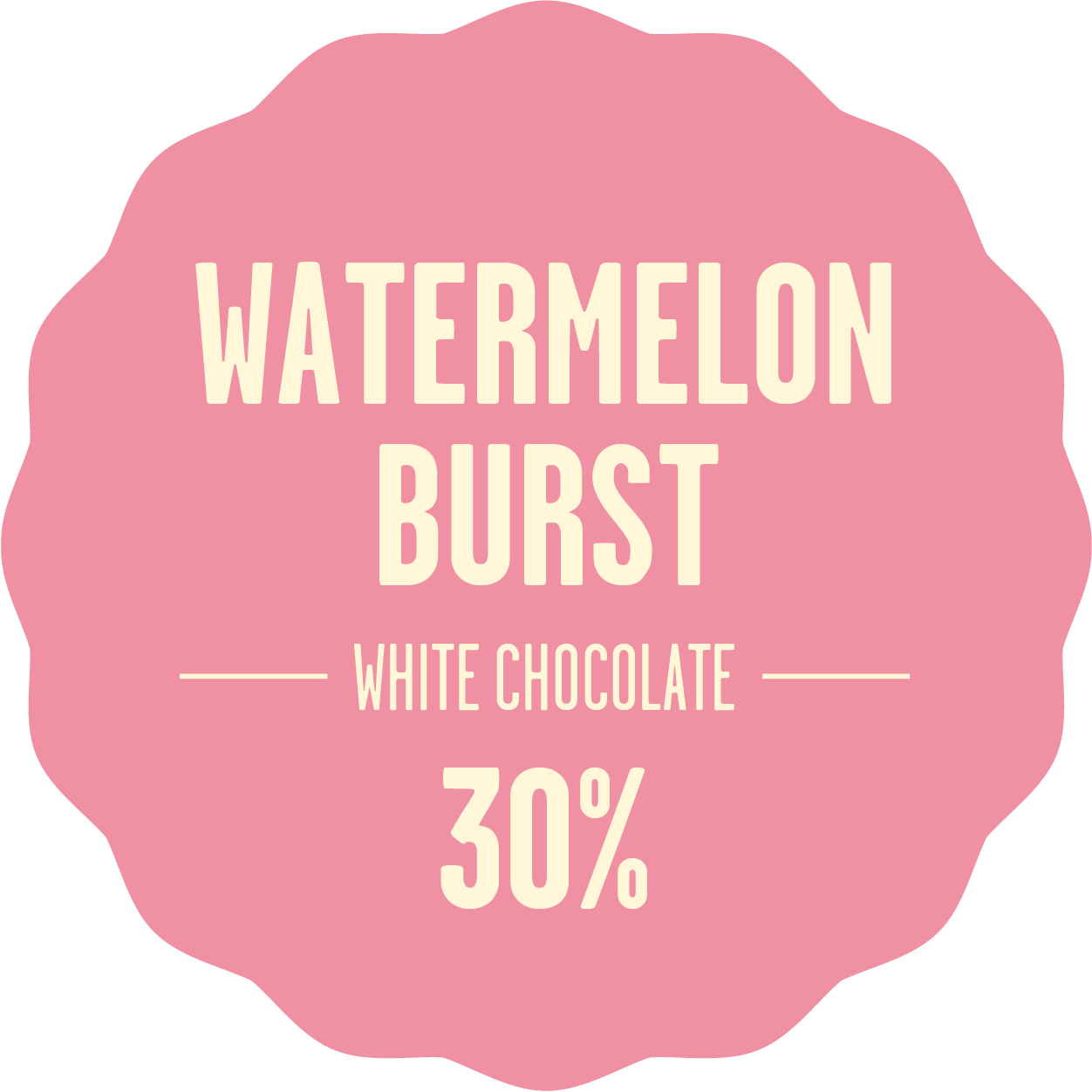 White chocolate bonbon melon 300px