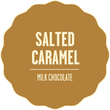 Milk chocolate salted caramel 2x