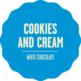 White chocolate cookies and cream 2x