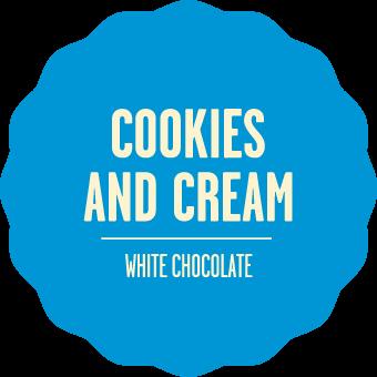 White chocolate cookies and cream 2x