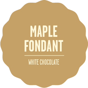 Flavours white chocolate maple fondant 2x