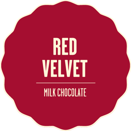 Milk chocolate red velvet 2x